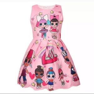 NWT Girls Pink LOL Surprise DOLL Dress